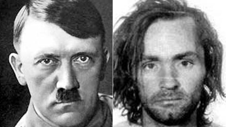 Faces of evil: Dr. Michael Welner hopes a new scale will help measure depravity, a trait shared in abundance by Adolf Hitler (l.) and Charles Manson, (r.)