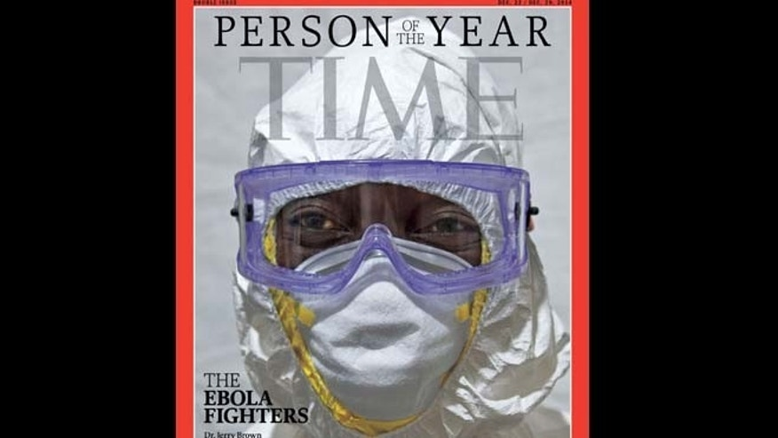 This image provided by Time Magazine announces the Ebola fighters as its Person of The Year for 2014.