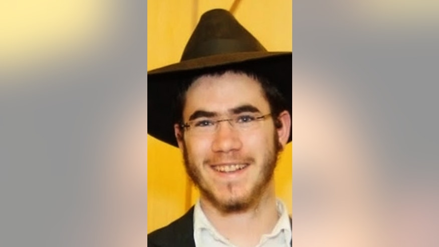 This undated photo provided by Chabad.org shows Israeli student Levi Rosenblat, who was stabbed in the head as he was studying in the library of the Chabad-Lubavitch headquarters in Brooklyn's Crown Heights neighborhood early Tuesday morning, Dec. 9, 2014. Rosenblat, wounded in the side of the head, was expected to survive. He was attacked by Calvin Peters, 49, who had a history of mental illness. Authorities said police shot and killed Peters when he lunged at them with the knife. (AP Photo/Chabad.org)