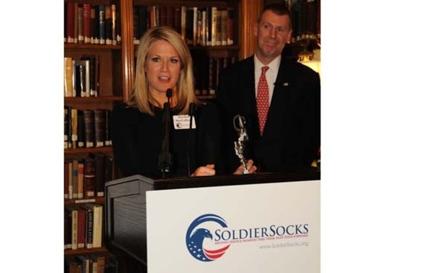 Martha MacCallum was awarded the Soldiersocks Commitment To Serve award