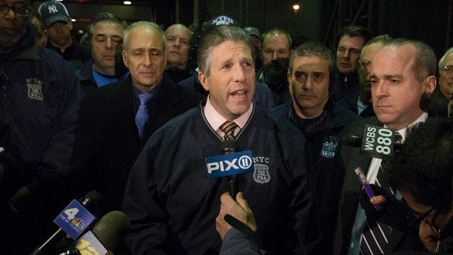 'Blood on Many Hands': Police union president slams De Blasio after cops' killing