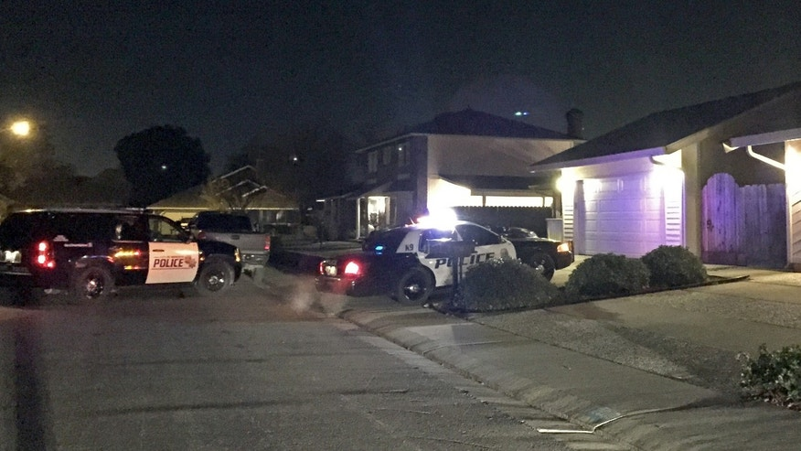Jan. 1, 2015: Modesto, Calif., Police Department shows the scene where a man fatally shot his wife, two grown children before taking his own life at their Modesto home on New Year's Day, police said
