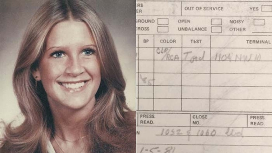 An old cable repair receipt could be the break Oklahoma police need to solve the 1981 murder of Tracey Neilson. (Oklahoma State Bureau of Investigation)