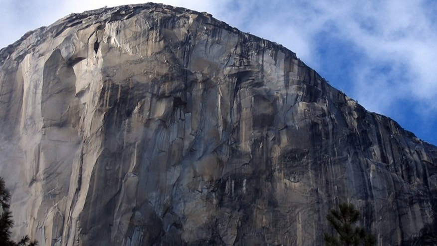 FILE: Two men, Kevin Jorgeson and Tommy Caldwell, are roughly halfway through climbing El Capitan: a free climb of a half-mile section of exposed granite in California's Yosemite National Park.