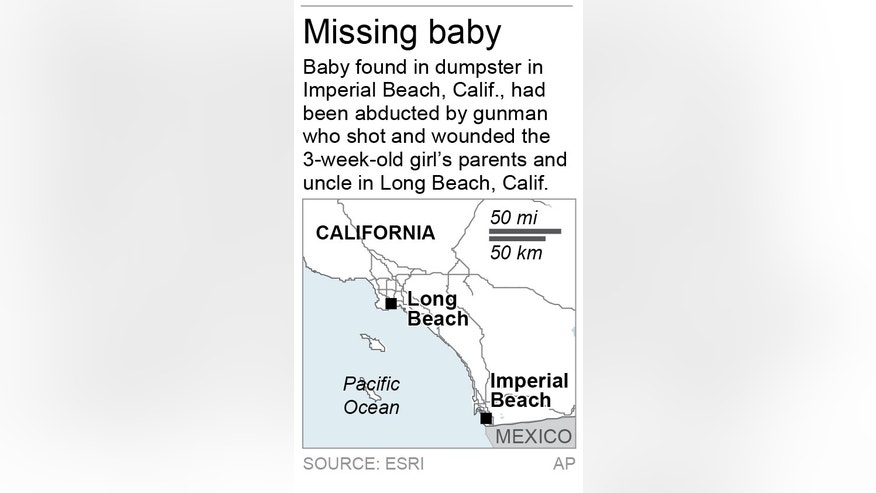 Map locates Long Beach, Calif.; 1c x 3 inches; 46.5 mm x 76 mm;