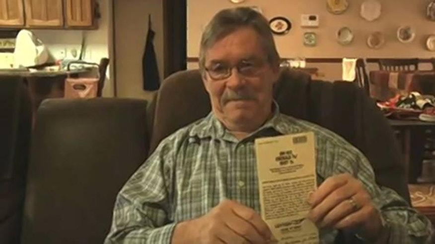 John Wines though he won more than a half-million dollars, but the state says his ticket is worthless. (KOB)