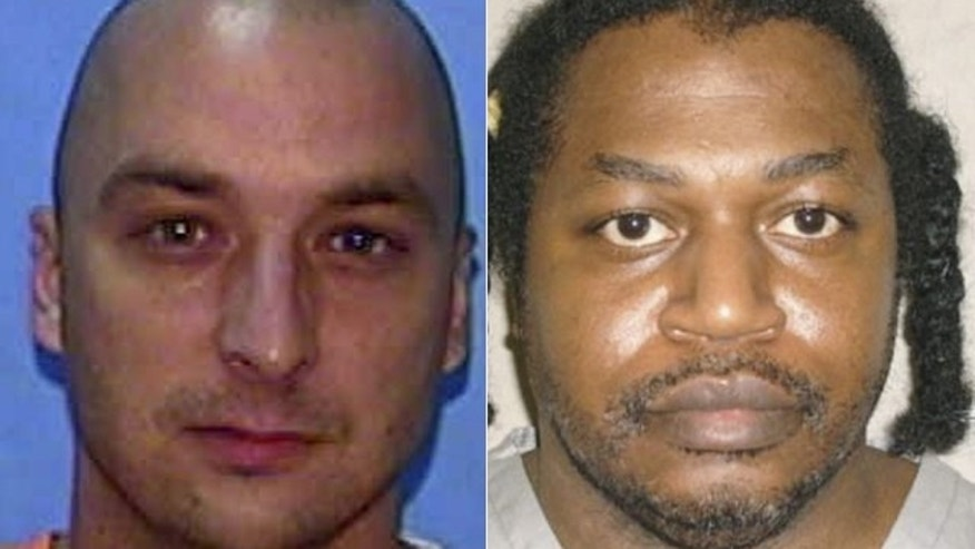 Jan. 15, 2015: These photos show, at left, Johnny Kormondy, 42, and Charles Warner, 47. Both men were executed Thursday in Florida and Oklahoma, respectively, using a drug cocktail employed by Oklahoma in a botched execution last April. (AP/Florida Department of Corrections/Oklahoma Department of Corrections)