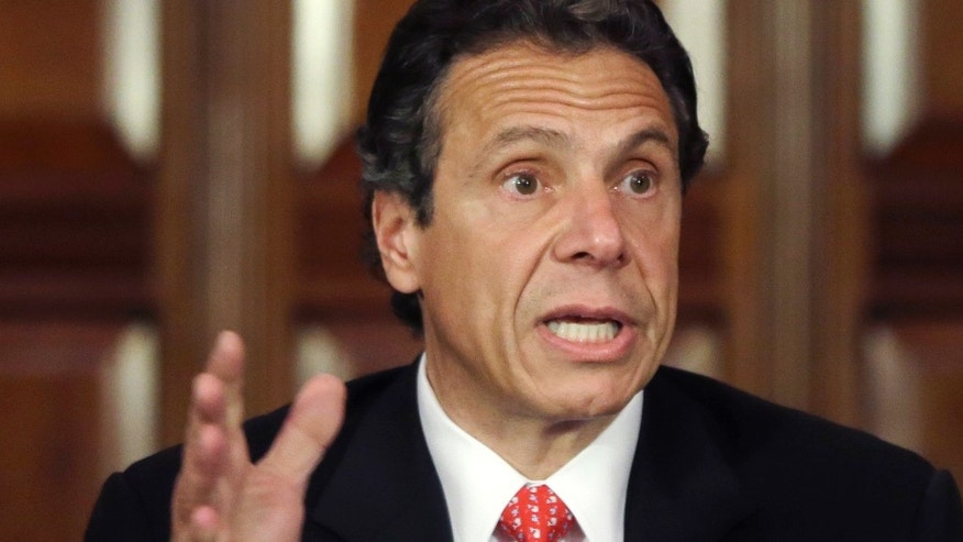 June 11, 2013:  New York Gov. Andrew Cuomo speaks during a news conference in the Red Room at the Capitol in Albany, N.Y.
