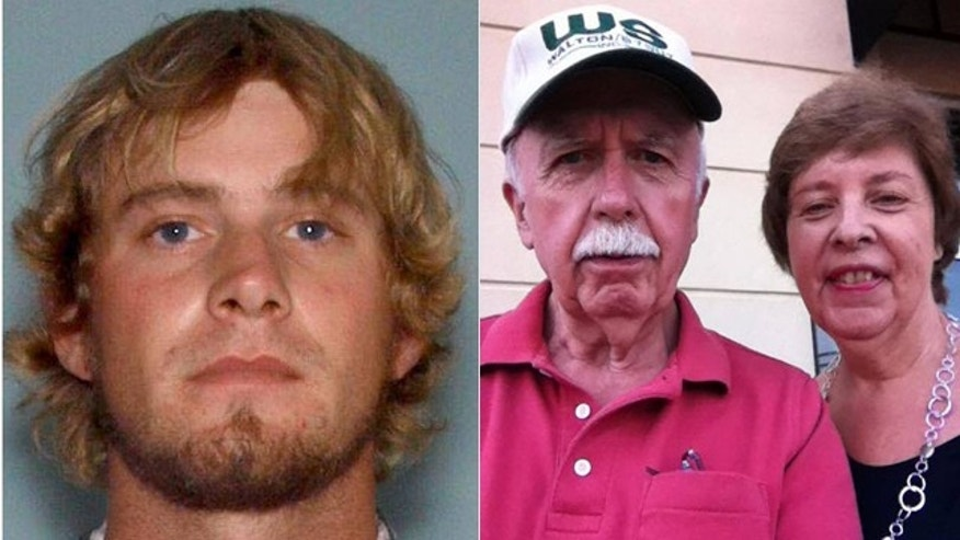 "These undated photos show, at left, Ronnie ""Jay"" Towns, who is wanted in connection with the disappearance of Bud and June Runion, right. (Courtesy MyFoxAtlanta.com)"