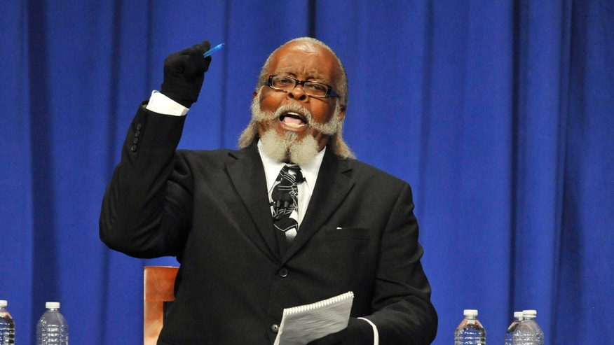 Oct. 18, 2010: Candidate Jimmy McMillan makes a point during the New York State Gubernatorial debate held at Hoftstra University in Hempstead, N.Y.