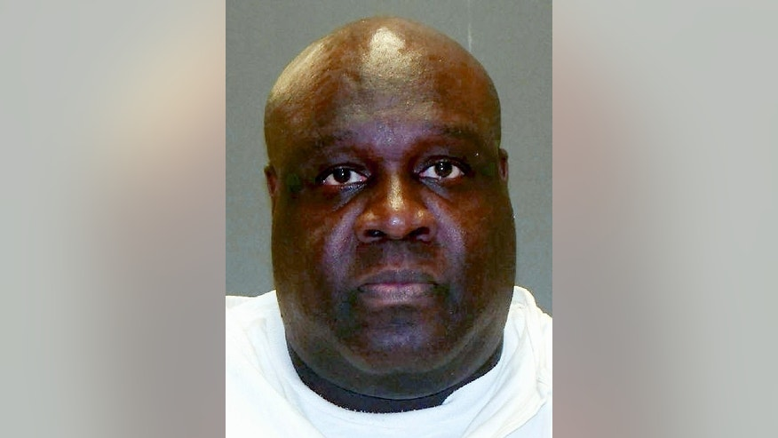 This undated handout photo provided by the Texas Department of Criminal Justice shows Garcia Glenn White. Garcia White faces lethal injection Wednesday, Jan. 28, 2015 for fatally stabbing twin 16-year-old girls at a Houston apartment where their mother also was killed. (AP Photo/Texas Department of Criminal Justice)