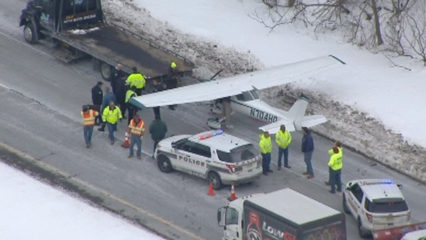 A Cessna C150, with only the pilot aboard, landed on Route 23 north in West Milford, N.J.