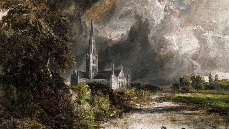 """Salisbury Cathedral from the Meadows,"" had been sold when experts thought it was painted by fans of artist John Constable."