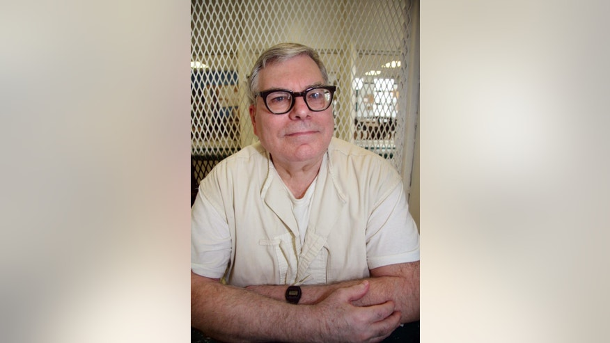 In this photo taken Jan. 7, 2015, Texas death row inmate Lester Bower, 67, is photographed in an interview cage at the visiting area of the Texas Department of Criminal Justice Polunsky Unit near Livingston, Texas. Bower, set to be executed next week for fatally shooting four men at an airplane hangar more than 30 years ago, won a reprieve Thursday, Feb. 5, 2015, from the U.S. Supreme Court. The justices gave no reason for the reprieve, saying only that it would be lifted automatically if they deny an appeal or act on it. (AP Photo/Michael Graczyk)
