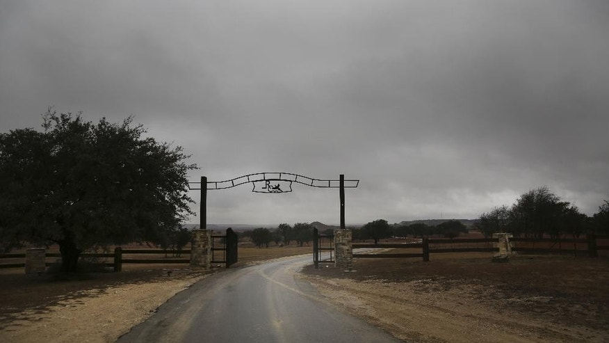 This Thursday, Jan. 22, 2015 photo shows the front entrance of the Rough Creek Lodge resort near Glen Rose, Texas. Eddie Ray Routh, an Iraq war veteran who was battling post-traumatic stress disorder and other personal issues is scheduled to stand trial in nearby Stephenville, Texas in the slayings of two men who were trying to help him, former Navy SEAL sniper Chris Kyle and Chad Littlefield. The two were found dead at the gun range here on Feb. 2, 2013. (AP Photo/LM Otero)