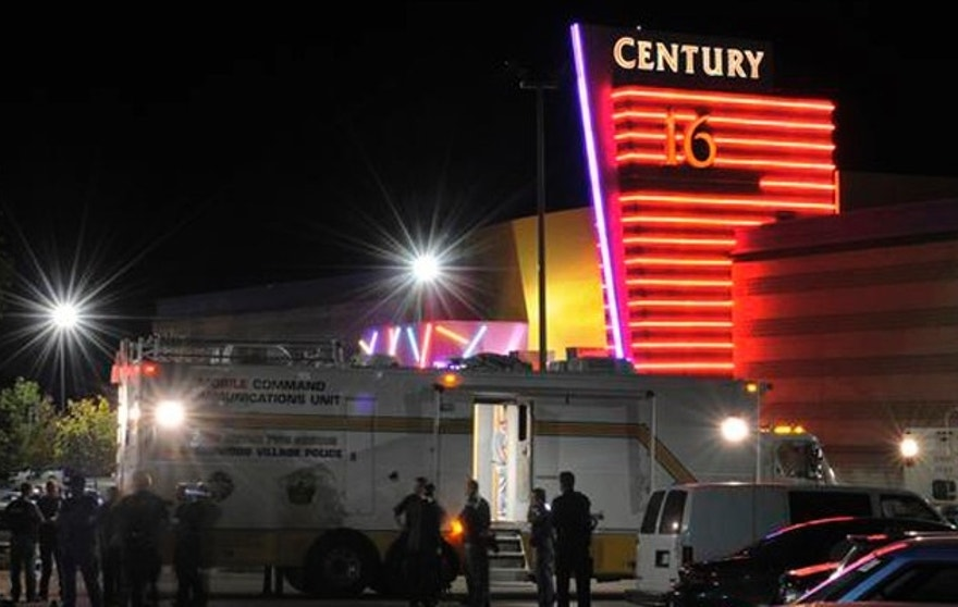 Aurora Police responded to the Century 16 movie theatre early Friday morning, July 20, 2012.  Twelve persons were killed when a lone shooter opened fire inside the theatre during a midnight screening of The Dark Knight Rises.  Karl Gehring/The Denver Post
