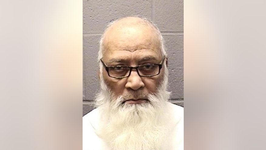 The undated booking photo provided by the Elgin Police Department shows Mohammad Abdullah Saleem, 75, of Gilberts, Ill. Saleem, the longtime head of the Institute of Islamic Education in Elgin, Ill. was arrested Sunday, Feb. 15, 2015, and charged with sexually abusing a 23-year-old woman who worked at the school. Saleem is due to appear in Cook County bond court on Tuesday, Feb. 17 in Rolling Meadows, Ill. (AP Photo/Courtesy of the Elgin Police Department)