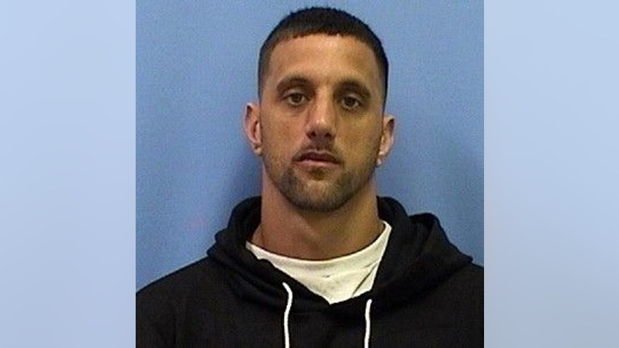 This photo provided by Marion County Sheriff's Office via Northeast Missouri Drug Task Force shows Ryan Thompson. Joshua Foust, who resigned from his job as an elementary school principal this month, was arrested Wednesday, Feb 18, 2015, on charges alleging that he had been dealing heroin. Thompson was also arrested on drug charges as part of the same investigation. (AP Photo/Marion County Sheriff's Office via Northeast Missouri Drug Task Force)