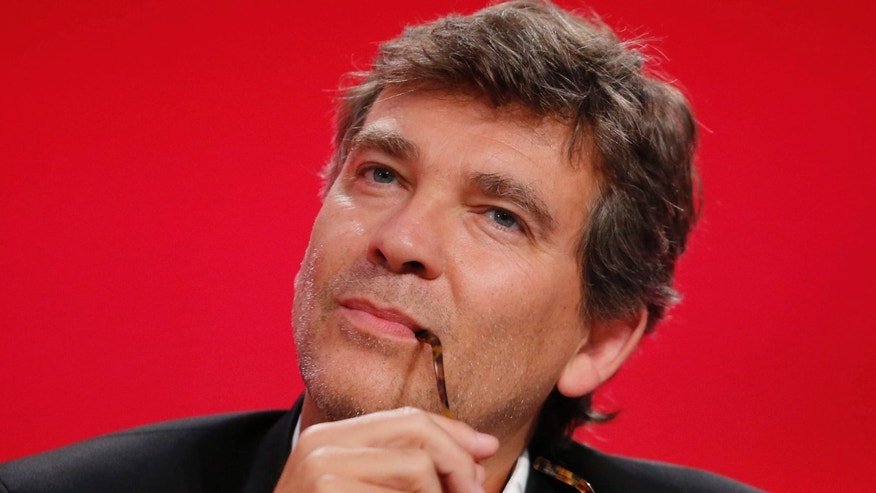 "Aug. 30, 2014: Former French Economy Minister Arnaud Montebourg, attends the Socialist Party's ""Universite d'ete"" summer meeting in La Rochelle, western France."