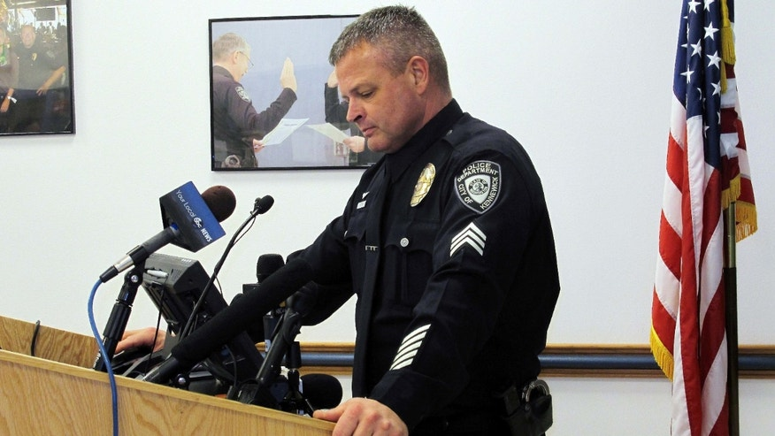 Feb. 25, 2015: Kennewick Police Sgt. Ken Lattin talks to reporters.