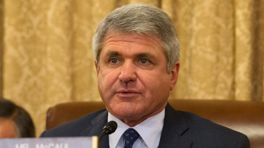 "FILE - In this April 9, 2014 file photo, Rep. Michael McCaul, R-Texas is seen on Capitol Hill in Washington. The Obama administration's commitment to taking in thousands of Syrian refugees is raising national security concerns among some law enforcement officials and Republican lawmakers.  As the Obama administration pushes to boost the numbers, three Republican members of Congress _ Reps. Peter King of New York, Michael McCaul of Texas and Candice Miller of Michigan _ have asked the State Department to say how many Syrian refugees it plans to resettle and provide a timeline and steps to ensure they're not a security risk. They warned that a weak screening process could become a ""backdoor for jihadists."" (AP Photo/Jacquelyn Martin, File)"