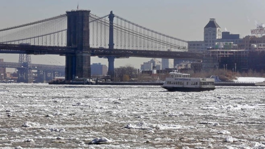 An official reportedly said that the East River in New York is so cold, a person would die after about four minutes of exposure.