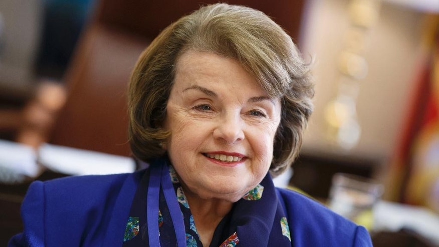 FILE: Feb. 11, 2015: Calif. Sen. Dianne Feinstein, a Democrat on the Senate Intelligence Committee, on Capitol Hill, in Washington, D.C.