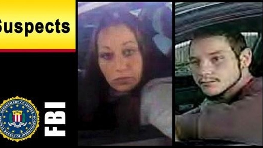 This Federal Bureau of Investigation bulletin shows two suspects in a string of identity thefts in Rhode Island and Massachusetts. According to the FBI in Cleveland, the woman strongly resembles Ashley Summers, who was 14-years-old when she disappeared in 2007. (AP Photo/Federal Bureau of Investigation)