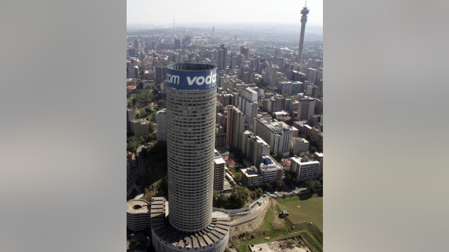 FILE : In this file photo photo taken Sunday April 19, 2009 an aerial photo shows the Ponte Tower building in Johannesburg. The 54-story building, visible from almost anywhere in Johannesburg, is reputed to be the tallest residential building in Africa. (AP Photo/Themba Hadebe, File)