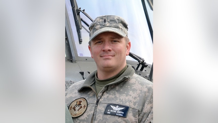 Army Chief Warrant Officer 4 George Wayne Griffin Jr. is seen in an undated photo provided by the Louisiana National Guard. Griffin Jr., of Delhi, La., was one of four Louisiana Army National Guardsmen killed in a UH-60M Black Hawk helicopter crash off the coast of Florida on March 10, 2015. The four guardsman and seven Marines killled were participating in a routine night-time training exercise with the Marine 2nd Special Operations Battalion when the Black Hawk crashed into the Santa Rosa Sound, east of the Navarre Bridge in Florida. (AP Photo/Louisiana National Guard, Spc. David C. Kirtland)