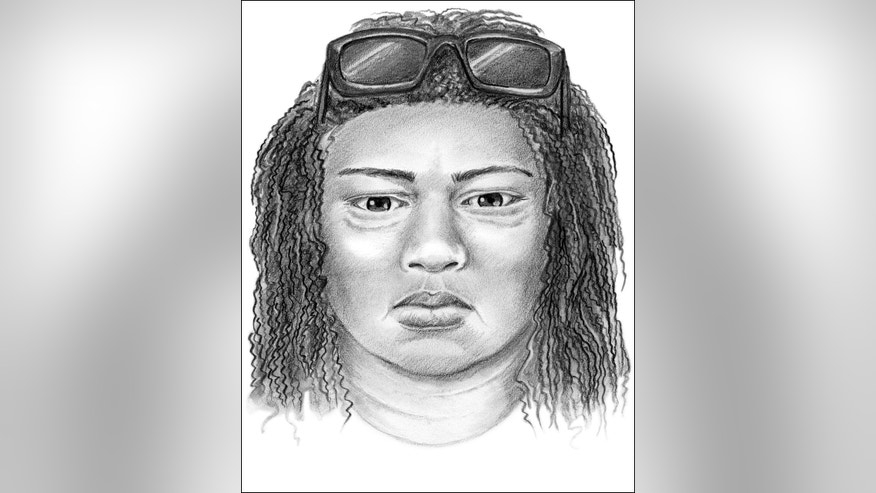 This artist's sketch provided by the Long Beach, Calif., Police Department on Wednesday, March 18, 2015, shows one of two people being sought in connection with the Jan. 3 shooting of three adults and the abduction of a 3-week-old infant from a Long Beach home. Police now believe a woman driving a Range Rover SUV followed a young mother and her 3-week-old daughter as they rode a bus through Long Beach less than two hours before a man burst into the mother's home, snatched the child and shot the baby's parents and uncle, critically wounding all three. The infant girl, Eliza, was later found dead in a trashbin miles away in San Diego County. (AP Photo/Long Beach Police Department)