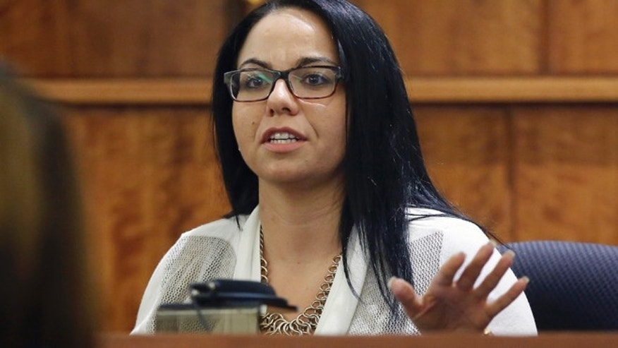 March 19: Kasey Arma testifies in the murder trial of former New England Patriots football player Aaron Hernandez, in Fall River, Mass.