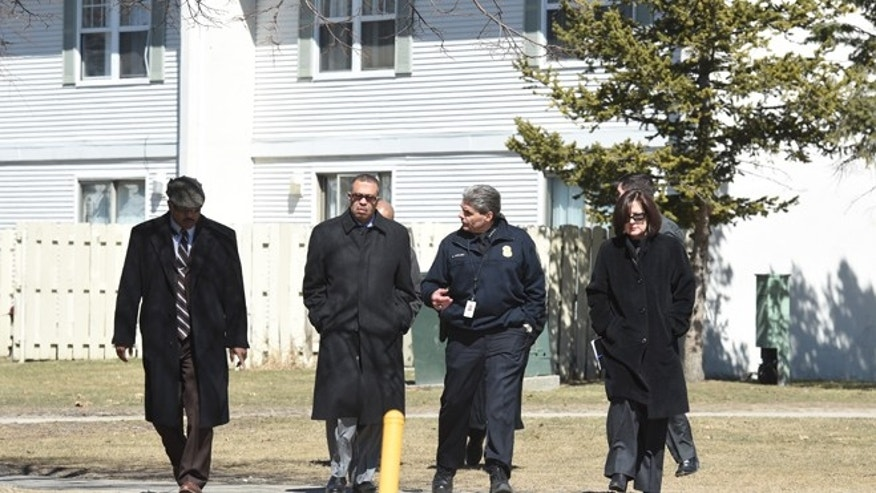 March 24, 2015: Detroit Police Chief James Craig and other law enforcement have a short briefing to media as law enforcement investigates in Detroit where the bodies of 2 children described as pre-teens or teens were found in a freezer.