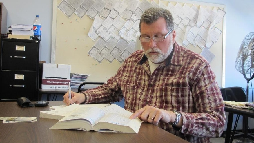 Larry Gorski, 58, of Cheektowaga, prepares to take the TASC test toward his high school equivalency diploma during an adult education class at the Maryvale Community Education Building in Cheektowaga, N.Y. on March 23, 2015.  The GED was overhauled last year to reflect the Common Core standards that have been adopted by most states and emphasize critical thinking. Two new high school equivalency exams that also incorporate some of those standards were also introduced last year.  (AP Photo/Carolyn Thompson)
