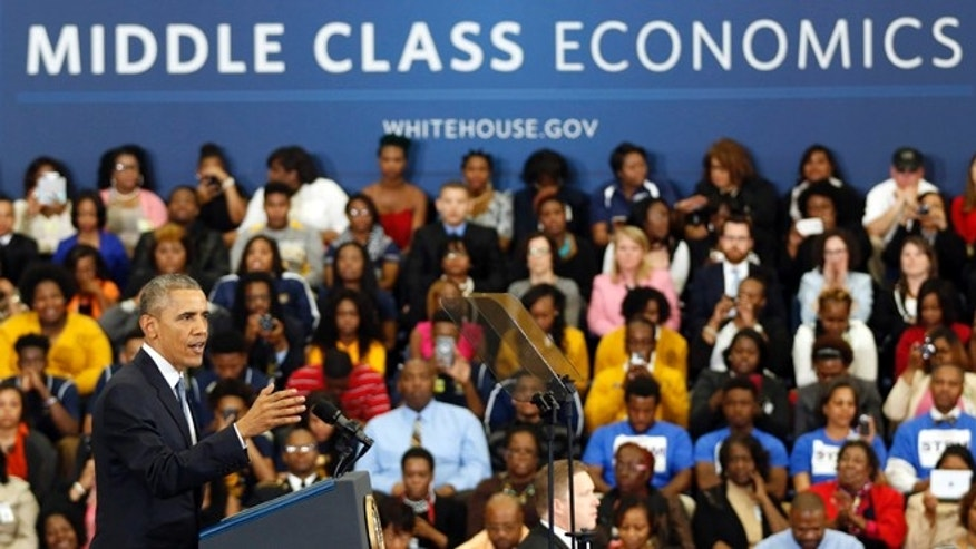 March 26, 2015: President Obama speaks about the economy and payday lending at Lawson State Community College in Birmingham, Ala.