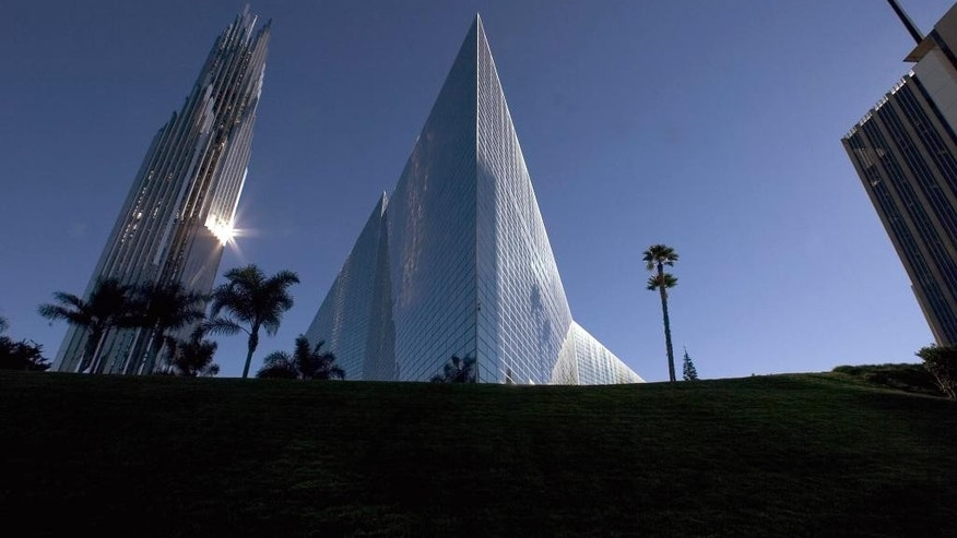 Dec. 17, 2004: This file photo shows the Crystal Cathedral in Garden Grove, Calif., the Southern California megachurch founded by televangelist Robert H. Schuller Sr.
