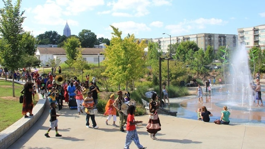 Atlanta's historic Fourth Ward Park is shown in this photo.