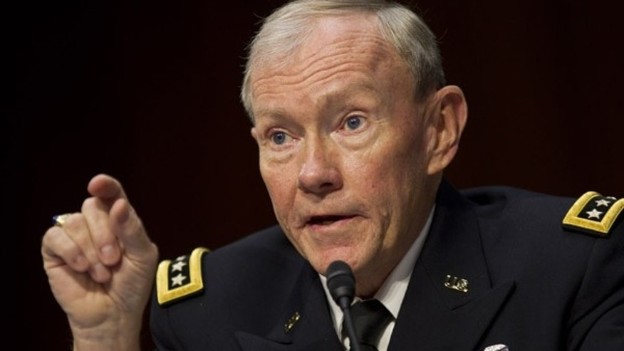 U.S. Army Gen. Martin Dempsey, Chairman of the Joint Chiefs of Staff, testify before the Senate Armed Services Committee on Capitol Hill in Washington, DC.
