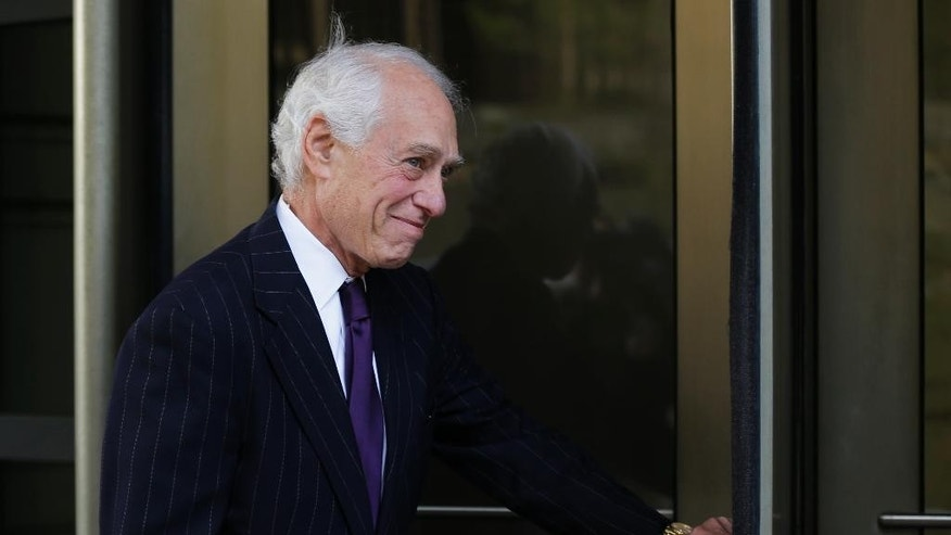 John Hinckley's attorney Barry Levin, arrives at the federal courthouse in Washington, Wednesday, April 22, 2015, for hearings on whether John Hinckley, the man who attempted to assassinate President Ronald Reagan in 1981, should spend more time outside a mental hospital that has been his home for decades.   (AP Photo/Manuel Balce Ceneta)