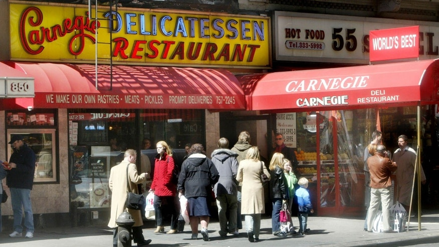 April 6, 2004:  Photo shows the exterior of the Carnegie Deli and Restaurant in New York.