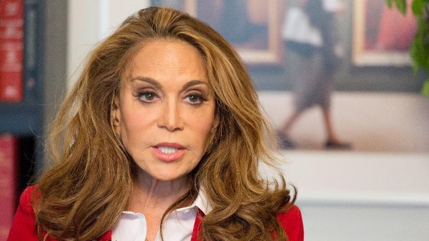 Pamela Geller is interviewed at The Associated Press, Thursday, May 7, 2015 in New York. Geller is one of the nation's most outspoken critics of Islamic extremism, taking the hard-edge view that such extremism sprouts not from fringe elements but the tenets of the religion itself. She was the organizer of a controversial cartoon contest about the Prophet Muhammad in Texas last weekend where two men started shooting before they were killed by police. (AP Photo/Mark Lennihan)