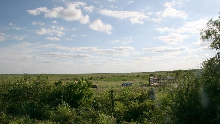 April 29, 2015: This photo shows the Palmito Ranch Battlefield, scene of the last land battle of the Civil War 150 years ago near Brownsville, Texas.