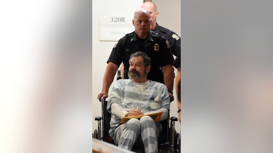 May 14, 2015: Frazier Glenn Miller is brought to court for an appearance at the Johnson County Courthouse in Olathe, Kan.