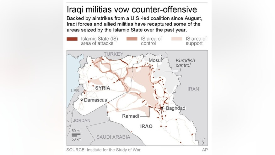 Map shows location of fighting across Iraq.; 2c x 5 inches; 96.3 mm x 127 mm;