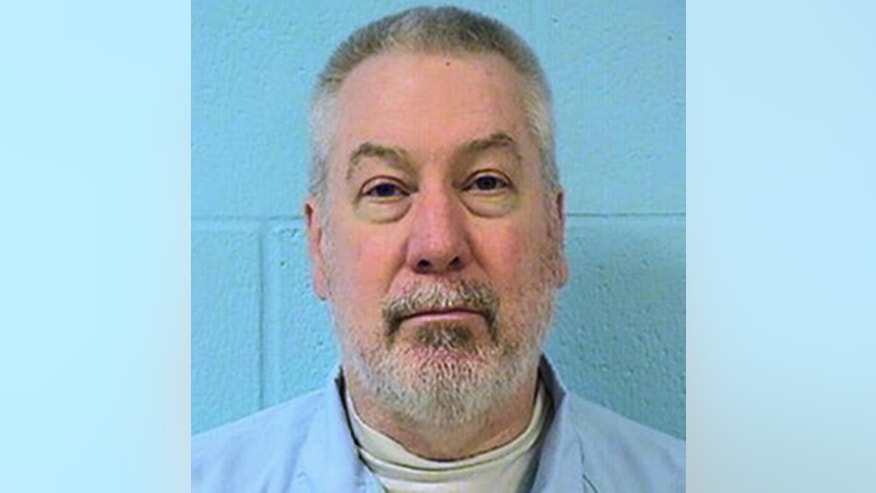 FILE - This undated file photo provided by the Illinois Department of Corrections shows former Bolingbrook, Ill., police officer Drew Peterson. A southern Illinois judge has granted Peterson's request to delay his trial on charges that the former suburban Chicago police sergeant plotted to kill the prosecutor who helped convict him in the death of his third wife. (Illinois Department of Corrections via AP, File)