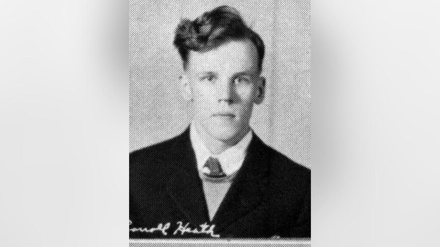 This 1940 Valley Bugle yearbook photo provided by the Gowanda Central School District in Gowanda, N.Y., shows World War II veteran Carroll Heath. More than 70 years after Heath's death, Alan Mesches is trying to fill in some of the blanks in a young man's short life that was full of them. (Courtesy of Gowanda Central School District via AP)