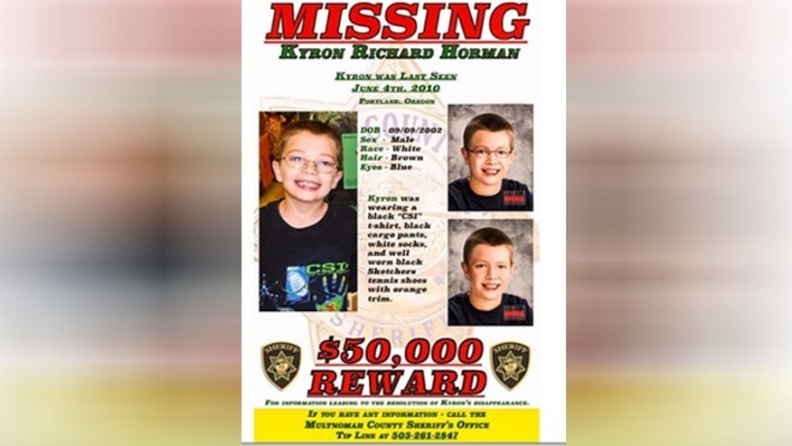 Kyron Horman vanished five years ago when he was 7, but this flier shows how he might look at age 12. (MCSO)