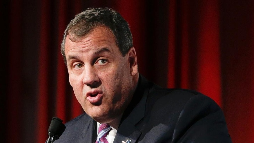 FILE - In this May 28, 2015 file photo, New Jersey Gov. Chris Christie speaks in New York. As the presidential campaign starts to move past the question of who is and isn't running for the White House, the two parties find themselves setting out on sharply divergent paths to Election Day.  (AP Photo/Julie Jacobson, File)