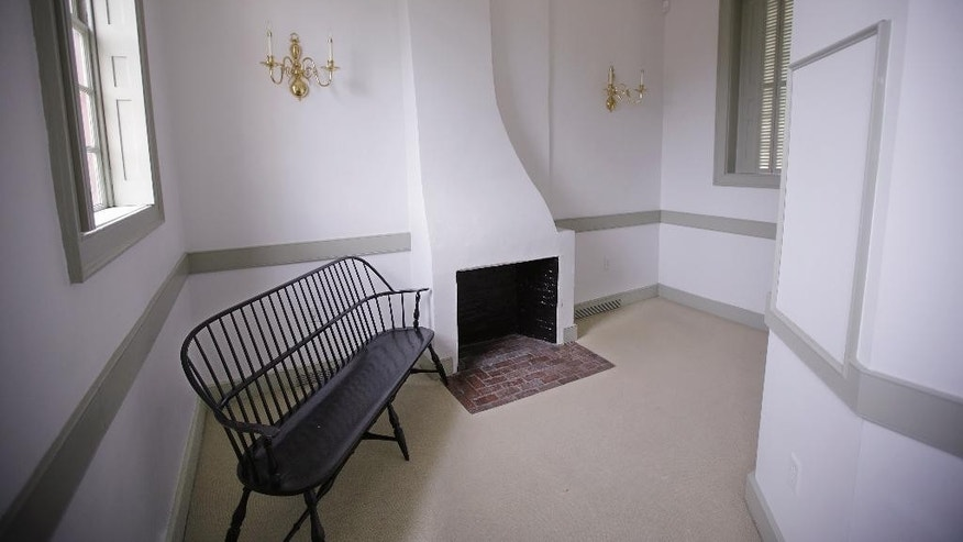 "In this Thursday, May 28, 2015 photo, a room off the second floor ""ladies gallery"" is seen at the Touro Synagogue, the nation's oldest, in Newport, R.I. Women attend synagogue seated on the second floor while men take their places on the ground floor.  A federal judge has allowed the state of Rhode Island to intervene in a fight over the future of the synagogue by a lawsuit, due for trial Monday, June 1, which pits the nation's first Jewish congregation in New York City against the congregation that worships at the 250-year-old Touro Synagogue. (AP Photo/Stephan Savoia)"