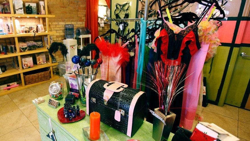 In this 2010 photo, merchandise appears on display at adult novelty store Smitten Kitten in Minneapolis.